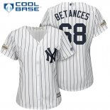 Maglia Baseball Donna New York Yankees 2017 Postseason Dellin Betances Bianco Cool Base