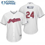 Maglia Baseball Uomo Cleveland Indians 2017 Estrellas y Rayas 24 Andrew Miller Bianco Cool Base