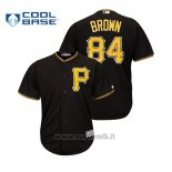 Maglia Baseball Uomo Pittsburgh Pirates Antonio Brown Cool Base Majestic MLB Crossover Nero