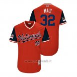 Maglia Baseball Uomo Washington Nationals Matt Wieters 2018 Llws Players Weekend Maui Rosso