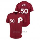 Maglia Baseball Uomo Philadelphia Phillies 50 Hect Or Neris 1979 Saturday Night Special Autentico Rosso