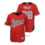 Maglia Baseball Bambino All Star Game Majestic Buster Posey 2018 Home Run Derby National League Rosso