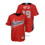 Maglia Baseball Bambino All Star Game Majestic Joey Votto 2018 Home Run Derby National League Rosso
