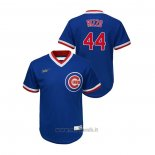 Maglia Baseball Bambino Chicago Cubs Anthony Rizzo Cooperstown Collection Road Blu