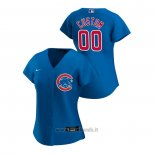 Maglia Baseball Donna Chicago Cubs Personalizzate 2020 Replica Alternato Blu