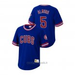 Maglia Baseball Uomo Chicago Cubs Albert Almora Jr Cooperstown Collection Blu