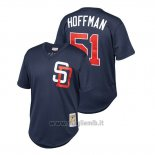Maglia Baseball Uomo San Diego Padres Trevor Hoffman Cooperstown Collection Mesh Batting Practice Blu