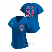 Maglia Baseball Donna Chicago Cubs Jon Lester 2020 Replica Alternato Blu