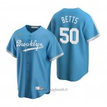 Maglia Baseball Uomo Los Angeles Dodgers Mookie Betts Cooperstown Collection Alternato Blu