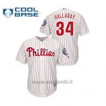 Maglia Baseball Uomo Philadelphia Phillies 34 Roy Halladay 2019 Hall Of Fame Induction Majestic Cool Base Bianco