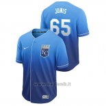 Maglia Baseball Uomo Kansas City Royals Jakob Junis Fade Autentico Blu