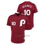 Maglia Baseball Uomo Philadelphia Phillies 10 J.t. Realmuto 1979 Saturday Night Special Autentico Rosso