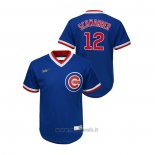 Maglia Baseball Bambino Chicago Cubs Kyle Schwarber Cooperstown Collection Road Blu