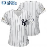 Maglia Baseball Donna New York Yankees 2017 Postseason Bianco Cool Base