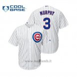 Maglia Baseball Uomo Chicago Cubs Daniel Murphy Cool Base Official Home Bianco