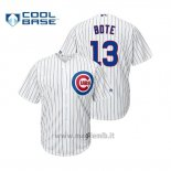 Maglia Baseball Uomo Chicago Cubs David Bote Cool Base Official Home Bianco