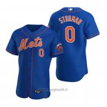 Maglia Baseball Uomo New York Mets Marcus Stroman Autentico 2020 Alternato Blu