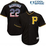 Maglia Baseball Uomo Pittsburgh Pirates Andrew Mccutchen Nero Estrellas y Rayas Cool Base