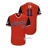 Maglia Baseball Uomo Washington Nationals Ryan Zimmerman 2018 Llws Players Weekend Zim Rosso