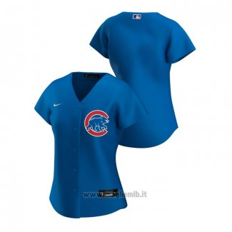 Maglia Baseball Donna Chicago Cubs Replica 2020 Alternato Blu