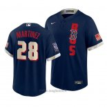 Maglia Baseball Uomo Boston Red Sox J.d. Martinez Autentico Alternato 2020 Blu