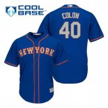 Maglia Baseball Uomo New York Mets Bartolo Colon 40 Blu Alterner Cool Base