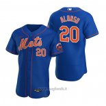 Maglia Baseball Uomo New York Mets Pete Alonso Autentico 2020 Alternato Blu