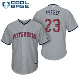 Maglia Baseball Uomo Pittsburgh Pirates 2017 Estrellas y Rayas David Freese Grigio Cool Base