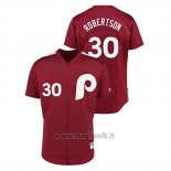 Maglia Baseball Uomo Philadelphia Phillies 30 David Robertson 1979 Saturday Night Special Autentico Rosso