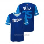 Maglia Baseball Bambino Los Angeles Dodgers Cody Bellinger 2018 Llws Players Weekend Belli Royal