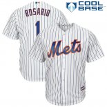 Maglia Baseball Uomo New York Mets 1 Amed Rosario Biancoplayer Cool Base