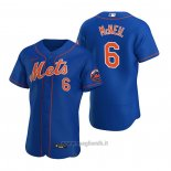 Maglia Baseball Uomo New York Mets Jeff Mcneil Autentico 2020 Alternato Blu