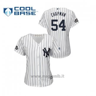 Maglia Baseball Donna New York Yankees 54 Aroldis Chapman Cool Base 2019 London Series Bianco