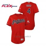 Maglia Baseball Uomo Cleveland Indians Bradley Zimmer 150th Aniversario Patch 2019 All Star Game Flex Base Rosso