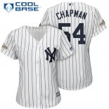 Maglia Baseball Donna New York Yankees 2017 Postseason Aroldis Chapman Bianco Cool Base