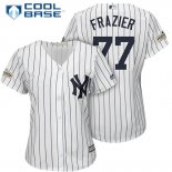 Maglia Baseball Donna New York Yankees 2017 Postseason Clint Frazier Bianco Cool Base