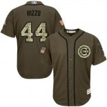 Maglia Baseball Uomo Chicago Cubs 44 Anthony Rizzo Verde Salute To Service