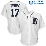 Maglia Baseball Uomo Detroit Tigers Andrew Romine Bianco Cool Base