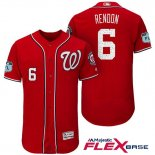 Maglia Baseball Uomo Washington Nationals Anthony Rendon Scarlet 2017 Allenamento Primaverile Flex Base Giocatore