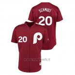 Maglia Baseball Uomo Philadelphia Phillies 20 Mike Schmidt 1979 Saturday Night Special Autentico Rosso