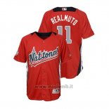 Maglia Baseball Bambino All Star Game Majestic J.t. Realmuto 2018 Home Run Derby National League Rosso