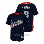 Maglia Baseball Bambino All Star Game Majestic Jed Lowrie 2018 Home Run Derby American League Blu