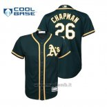 Maglia Baseball Bambino Oakland Athletics Matt Chapman Cool Base Majestic Alternato Green