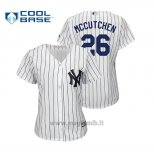 Maglia Baseball Donna New York Yankees Andrew Mccutchen Cool Base Majestic Home Bianco