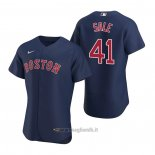Maglia Baseball Uomo Boston Red Sox Chris Sale Autentico Alternato 2020 Blu