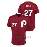 Maglia Baseball Uomo Philadelphia Phillies 27 Aaron Nola 1979 Saturday Night Special Autentico Rosso