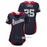 Maglia Baseball Donna All Star Game Majestic Gleyber Torres 2018 Home Run Derby American League Blu