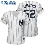 Maglia Baseball Donna New York Yankees 2017 Postseason C.c. Sabathia Bianco Cool Base