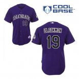 Maglia Baseball Uomo Colorado Rockies Charlie Neromon 19 Viola Alterner Cool Base