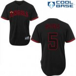 Maglia Baseball Uomo Los Angeles Angels Albert Pujols 5 Nero Fashion Cool Base